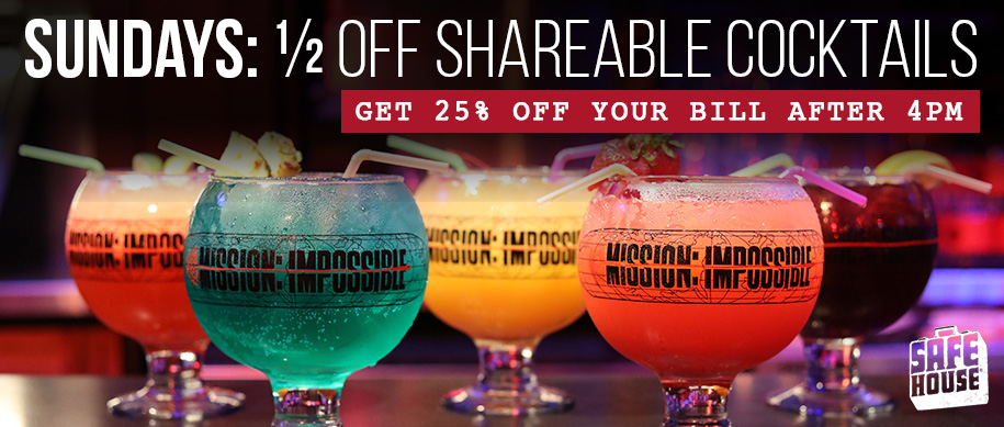 1/2 Off Shareable Cocktails